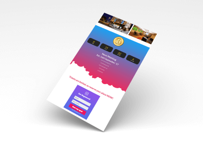 Foto Frame Plus Landing page for lead generation