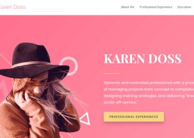 Karen Doss Portfolio Website